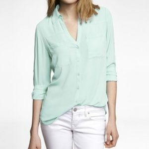 Express Portfoino Shirt Mint Green